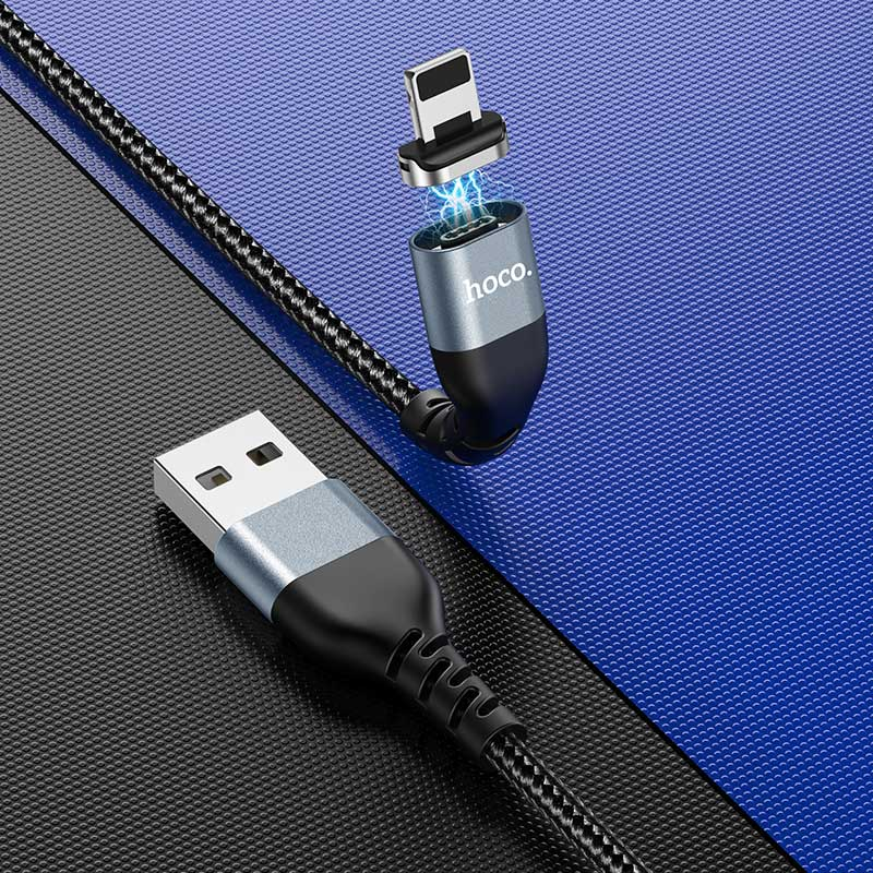 hoco u96 traveller magnetic charging data cable for lightning overview