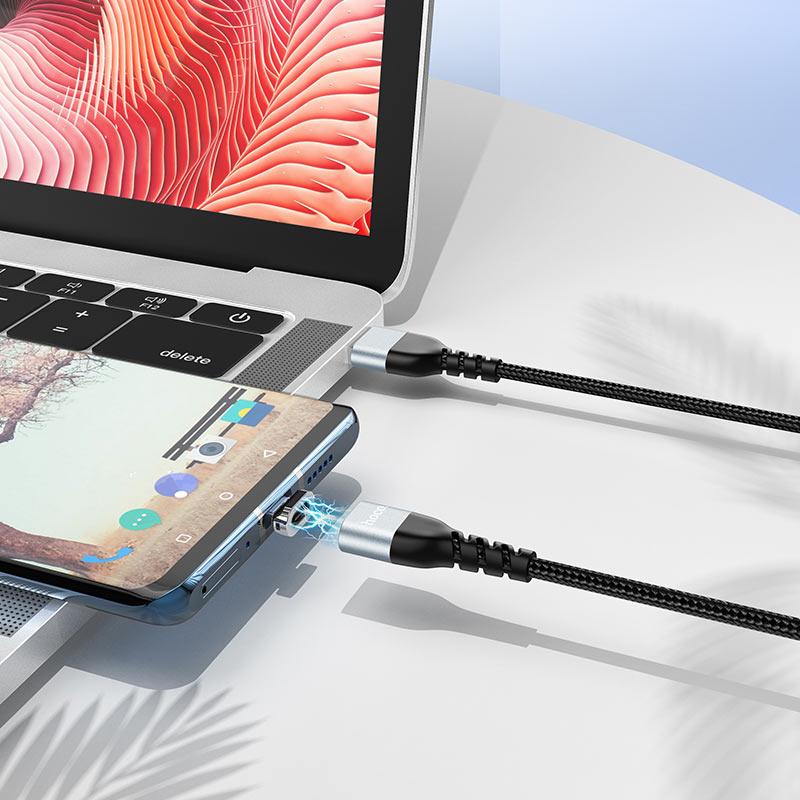hoco u96 traveller магнитный зарядный дата кабель type c интерьер