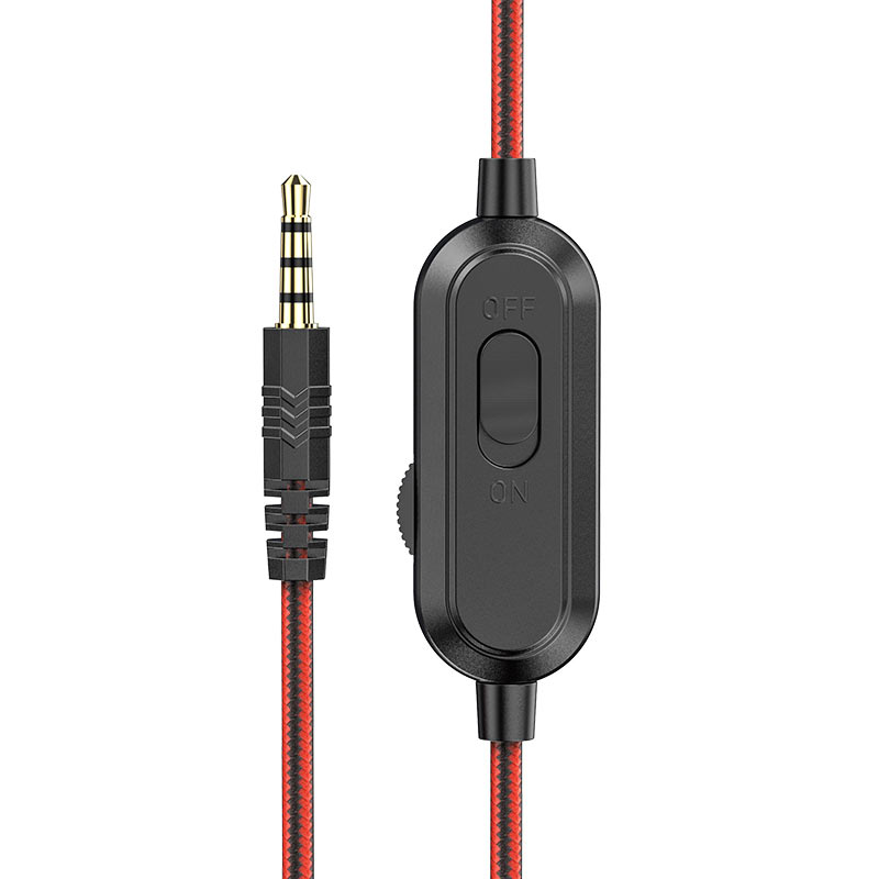 hoco w103 magic tour gaming headphones cable