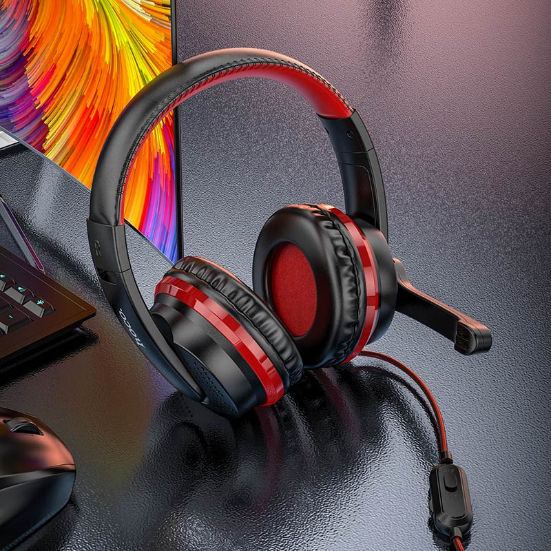 hoco w103 magic tour gaming headphones closeup