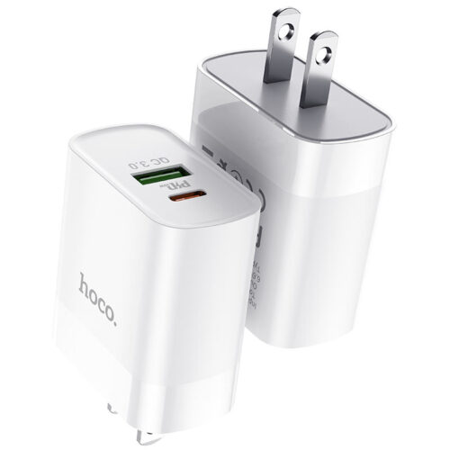 hoco c80 rapido pd20w qc3 wall charger us