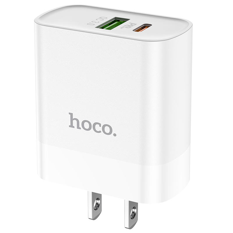 hoco c80 rapido pd20w qc3 wall charger us housing