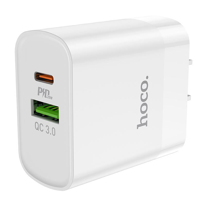 hoco c80 rapido pd20w qc3 wall charger us ports