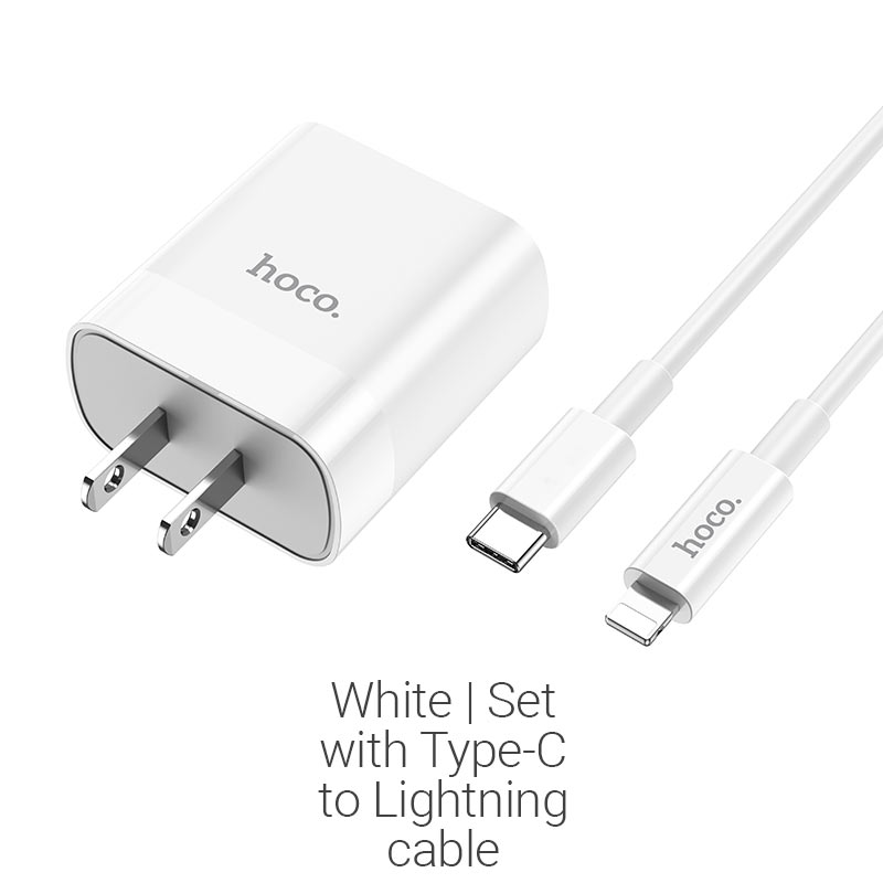 c80 pd20w type c lightning white