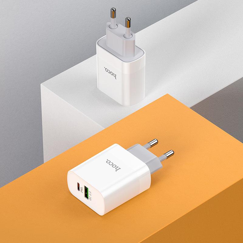 hoco c80a rapido pd20w qc3 wall charger eu interior