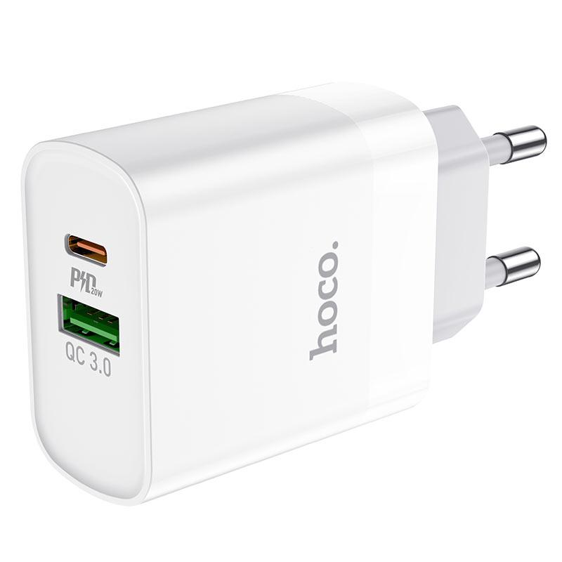 hoco c80a rapido pd20w qc3 wall charger eu ports