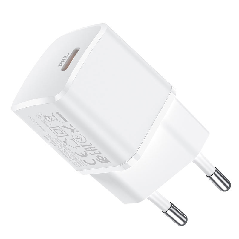 hoco n10 starter single port pd20w wall charger eu housing