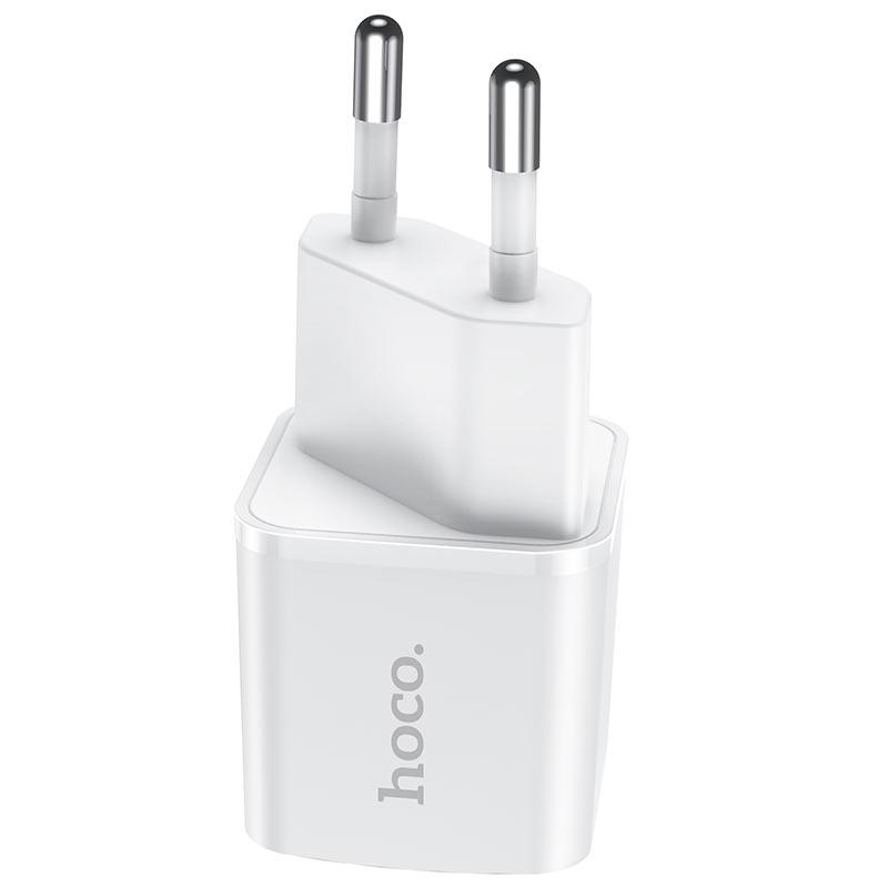 hoco n10 starter single port pd20w wall charger eu plug