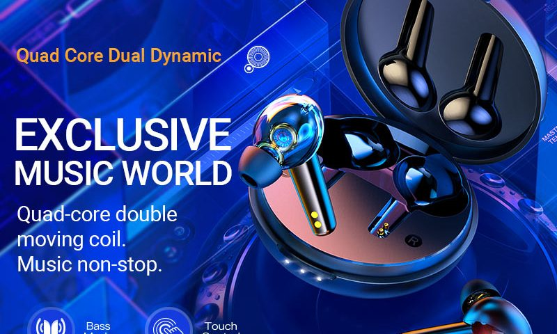 hoco news es55 songful tws dual moving coil wireless bt headset banner en