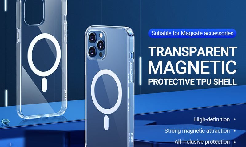 hoco news transparent tpu magnetic protective case for iphone12 banner en