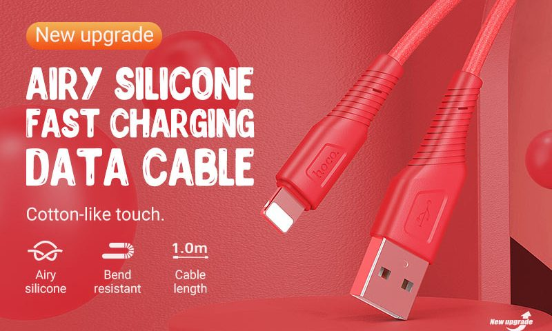 hoco news x58 airy silicone charging data cable banner en