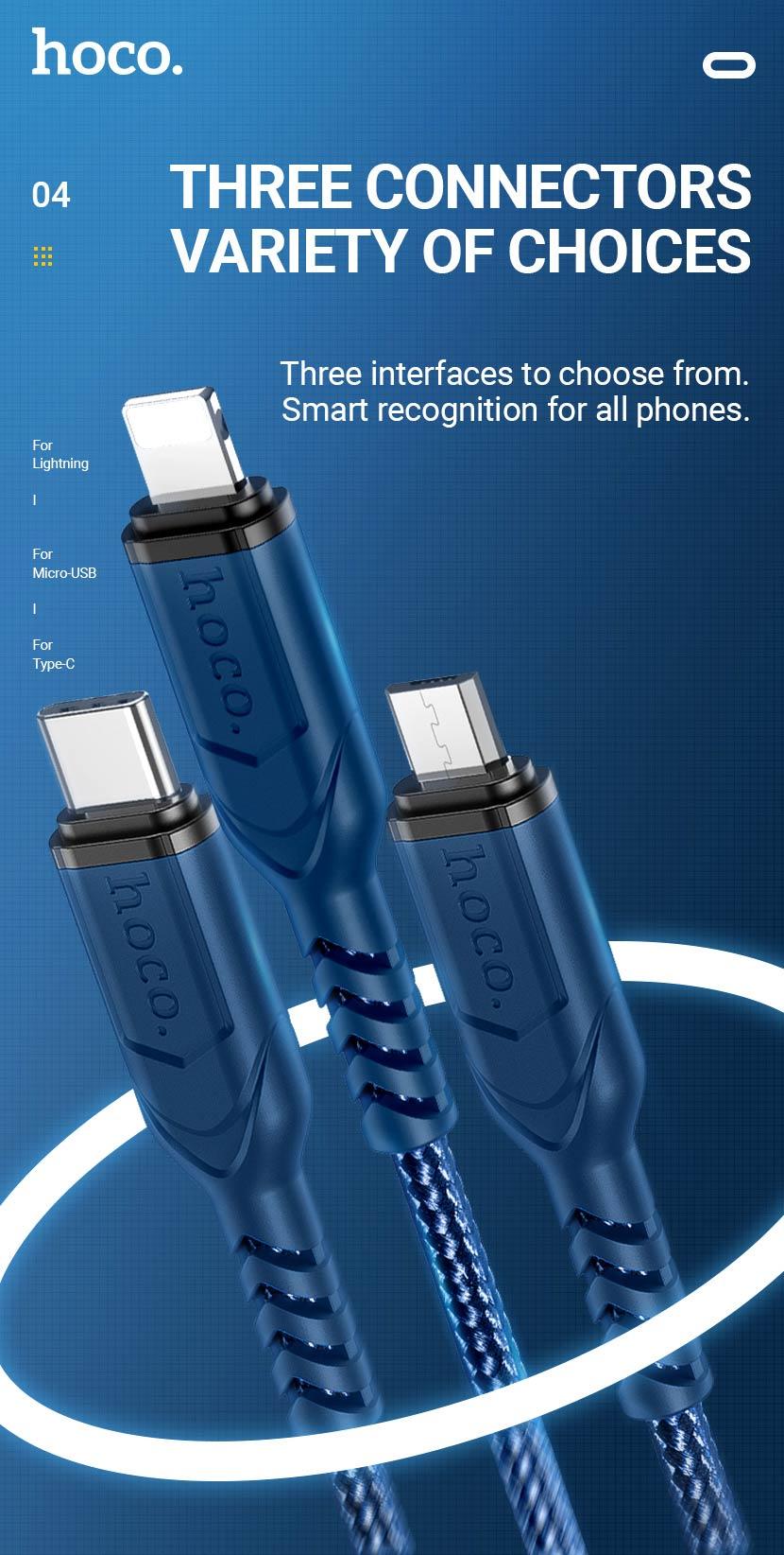 hoco news x59 victory charging data cable connectors en