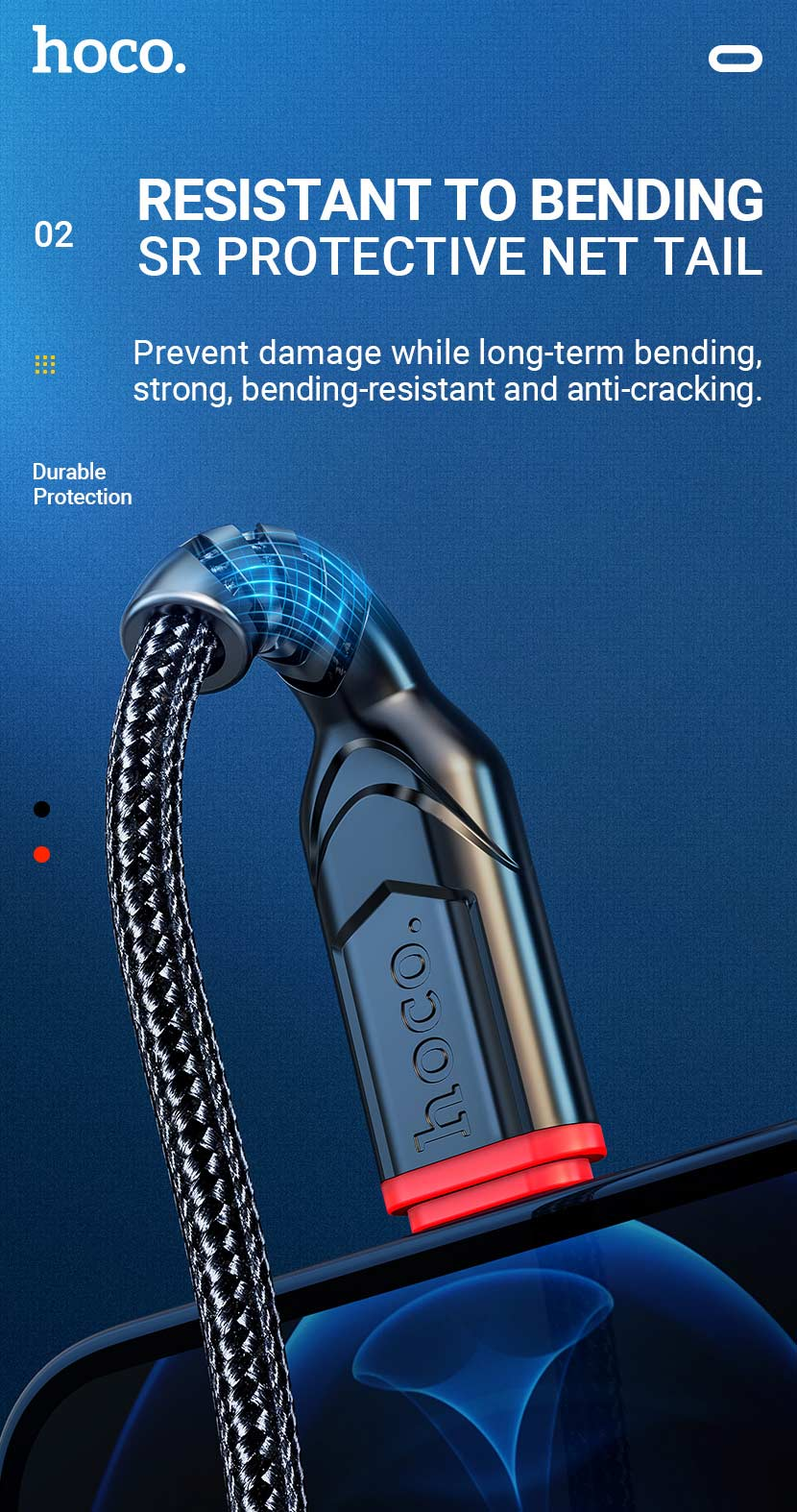 hoco news x59 victory charging data cable net tail en