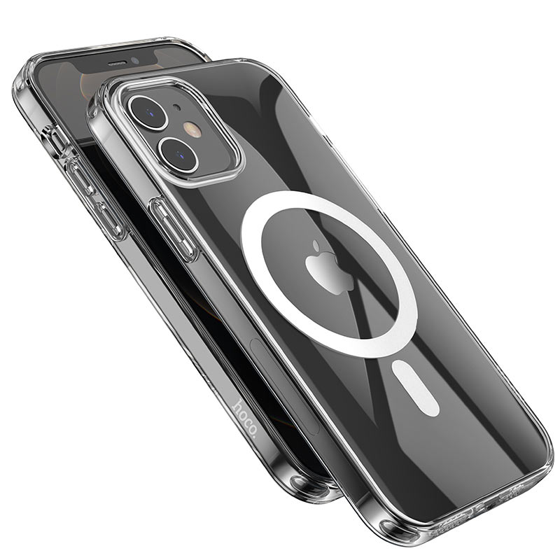 hoco transparent tpu magnetic protective case for iphone 12 12mini 12pro 12promax camera