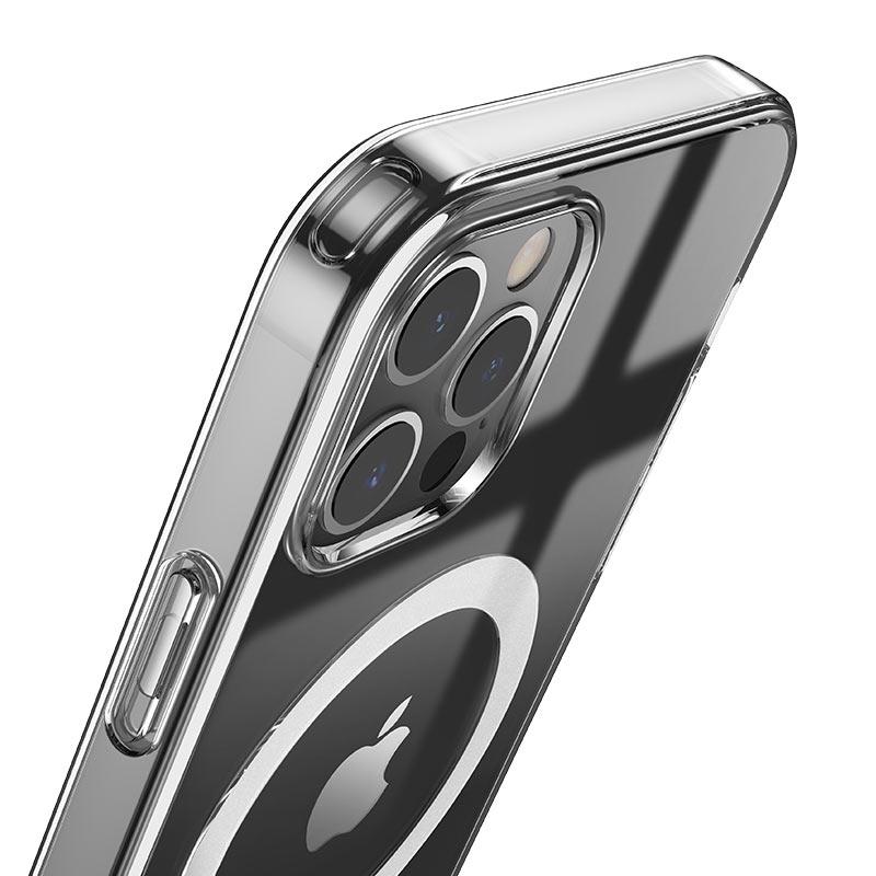 hoco transparent tpu magnetic protective case for iphone 12 12mini 12pro 12promax corner