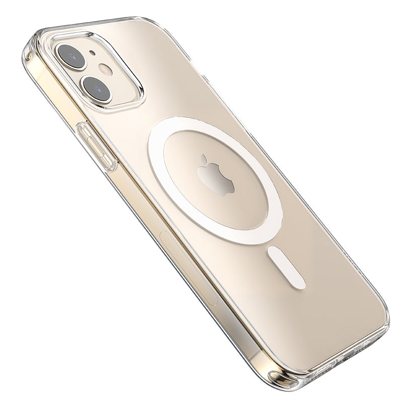 hoco transparent tpu magnetic protective case for iphone 12 12mini 12pro 12promax overview