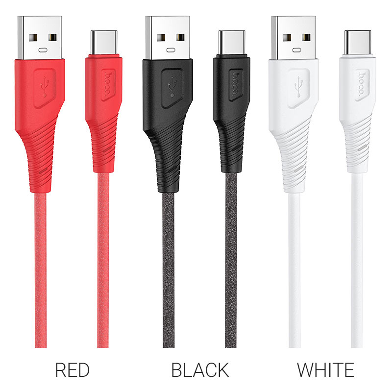 hoco x58 airy silicone charging data cable for type c colors